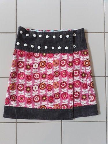 Makerist - Wenderock mit Jeansstoff Mädchen - Nähprojekte - 2