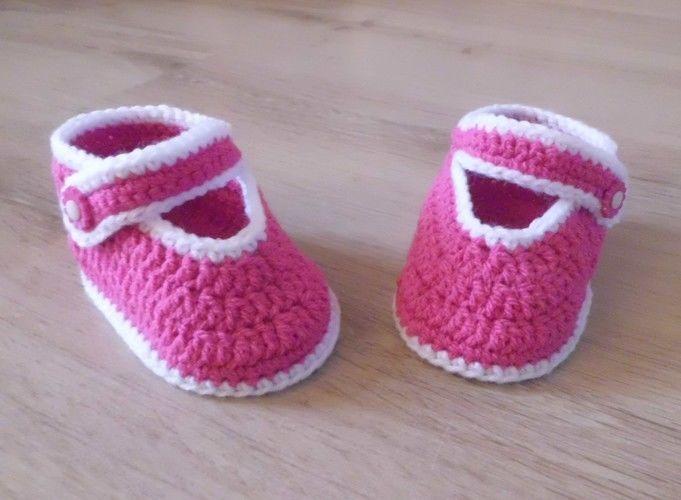 Makerist - PDF CROCHET - Chaussons pour bébé de 3 à 12 mois !  - Créations de crochet - 1