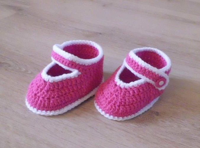 Makerist - PDF CROCHET - Chaussons pour bébé de 3 à 12 mois !  - Créations de crochet - 3