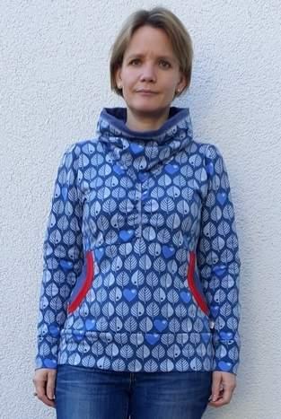 Makerist - Xia Hoodie mit tollem Blättersweat - 1