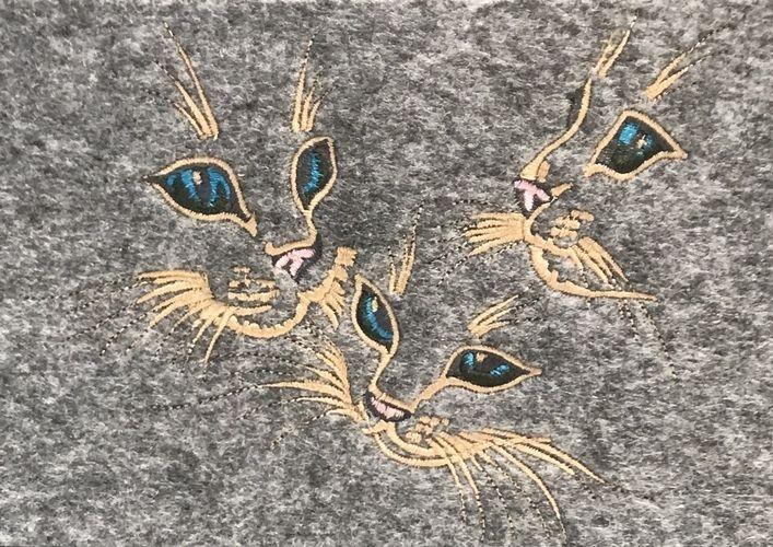 Makerist - Filzshopper für Katzenliebhaber - Nähprojekte - 2