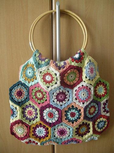 Makerist - Tasche aus Granny-Sechsecken - Häkelprojekte - 1