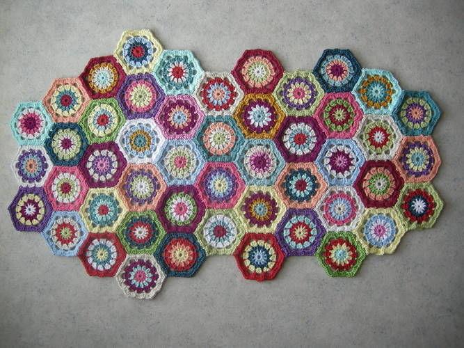 Makerist - Tasche aus Granny-Sechsecken - Häkelprojekte - 2