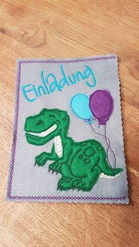 Makerist - Einladungskarten Kindergeburtstag  - Textilgestaltung - 2
