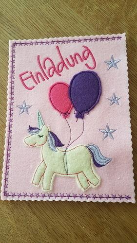 Makerist - Einladungskarten Kindergeburtstag  - Textilgestaltung - 3
