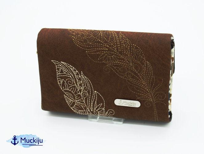 Makerist - Portemonnaie Genius bestickt mit Feder 7 - Nähprojekte - 2
