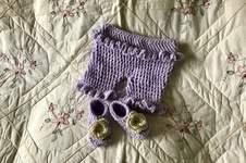Makerist - Lavender Lamb ruffled baby bloomers - 1