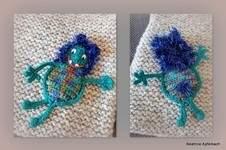 """Makerist - Applikation """"Kleines Monster """" von vorne und hinten - 1"""