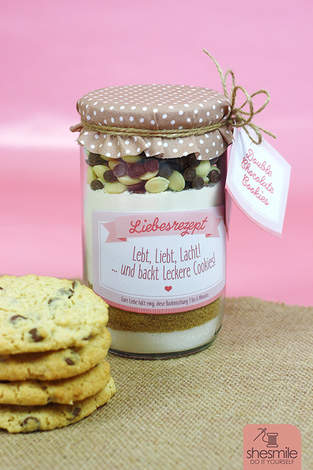 Cookies im Glas zur Hochzeit