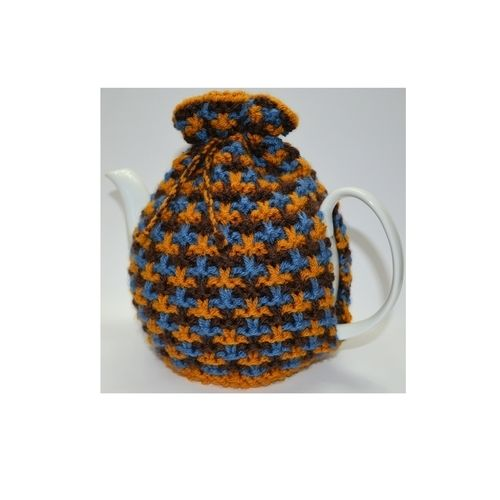 Makerist - Oxford Textured Tweed Tea Cozy - Knitting Showcase - 1