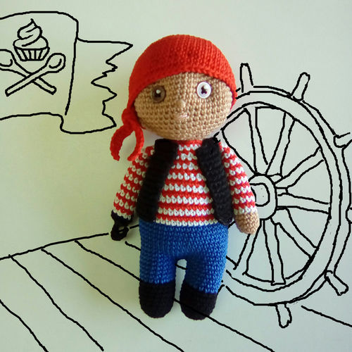 Makerist - Jacques le pirate - Créations de crochet - 1