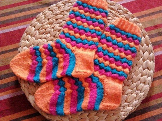 Makerist - Bubble Socken  - Strickprojekte - 1
