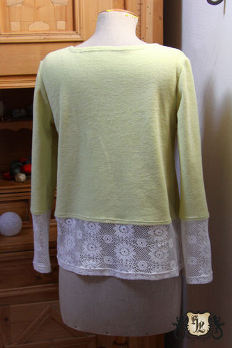 Makerist - Pullover aus Forttee und Spitze - Nähprojekte - 2