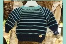 Makerist - Babypulli Stripes gefunden bei ela-strickt.blogspot.com - 1