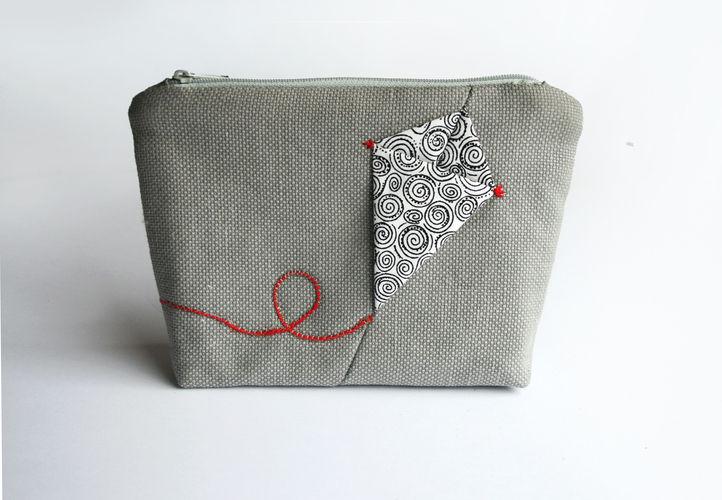 Makerist - Kosmetiktasche Portemonnaie mit Drache - Nähprojekte - 1