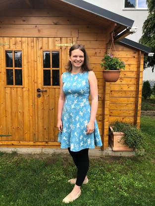 Kleid nähen mit selbst erstelltem Schnittmuster