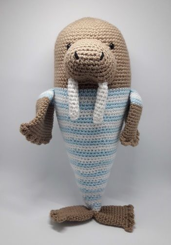 Makerist - Amigurumi – Walter the walrus - crochet – tutorial - Crochet Showcase - 1