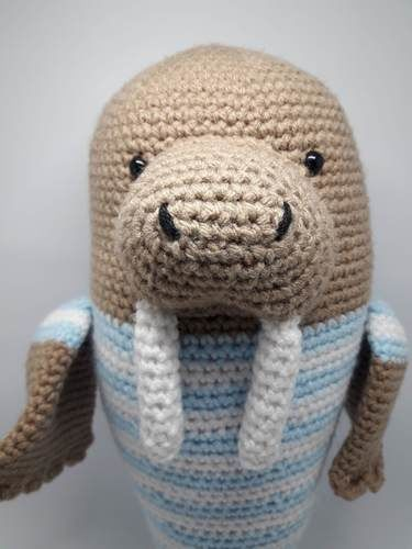 Makerist - Amigurumi – Walter the walrus - crochet – tutorial - Crochet Showcase - 2