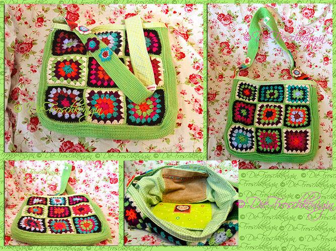 Makerist - Granny-Square-Schultertasche in frischen Frühlingsfarben - Häkelprojekte - 2