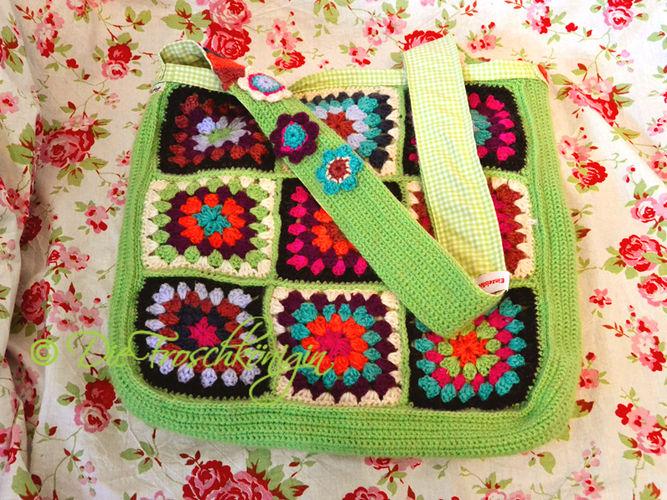 Makerist - Granny-Square-Schultertasche in frischen Frühlingsfarben - Häkelprojekte - 3