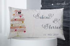Makerist - Hochzeitskissen Kissenhüllen Set Fancy von Unikati - 1