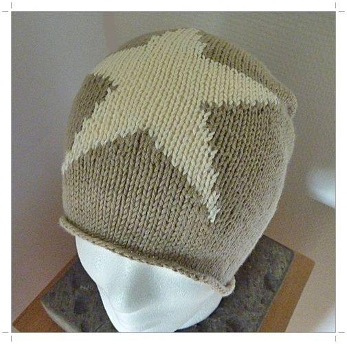 Makerist - Strickanleitung für eine Baumwoll-Beanie mit Stern - Strickprojekte - 3