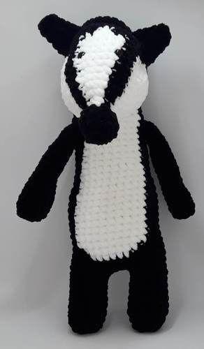 PATTERN: Blossom the Badger - Crochet badger pattern - amigurumi ... | 500x292