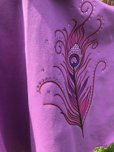 Makerist - Pfauenfeder mit Strass  - Textilgestaltung - 2