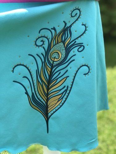 Makerist - Pfauenfeder mit Strass  - Textilgestaltung - 3
