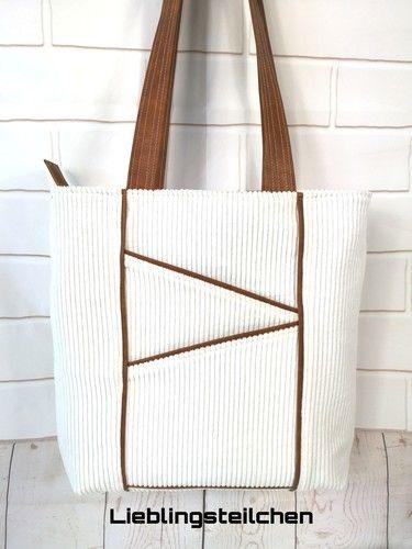 Makerist - Taniia Bag von Unikati.Jede.Naht.ein.Unikat. Genäht ist sie aus Breitcord 😊 - Nähprojekte - 1