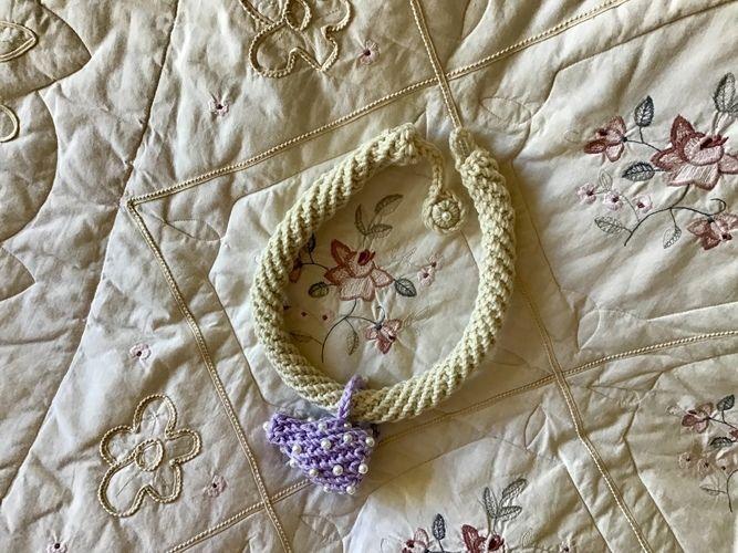 Makerist - Pisces Fiber Art Necklace - Crochet Showcase - 2