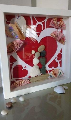 Makerist - Herzchen zur Hochzeit - Geschenk im Rahmen - Nähprojekte - 2