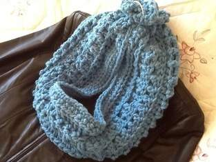 Makerist - Blue Waves Infinity Scarf - 1