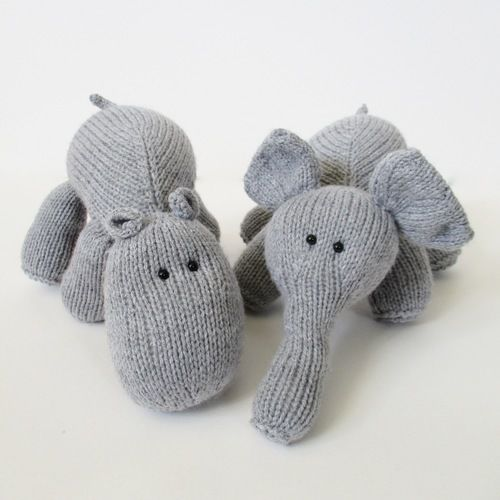 Makerist - Hippo and Elephant - Knitting Showcase - 1