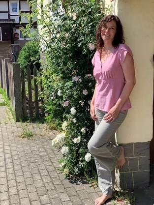 Claudine, tolle Bluse aus Chambray-Bettwäsche 😍