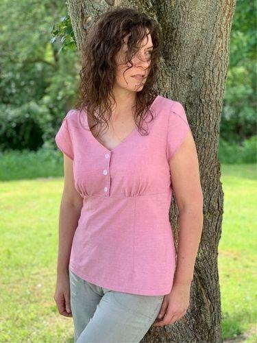Makerist - Claudine, tolle Bluse aus Chambray-Bettwäsche 😍 - Nähprojekte - 2