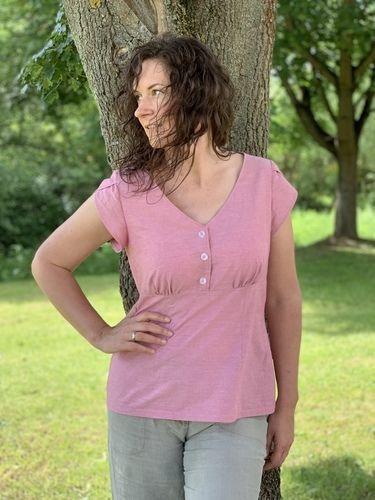 Makerist - Claudine, tolle Bluse aus Chambray-Bettwäsche 😍 - Nähprojekte - 3