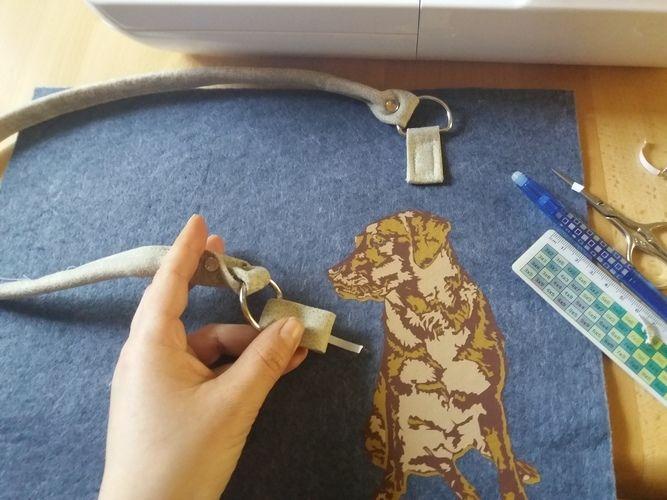 Makerist - Hund von oma plott auf filztasche - Textilgestaltung - 1