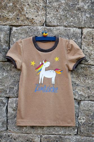 Makerist - Basic-Shirt Ida von Mamili1910 mit Plott Regenbogenpferd von GroWidesign - Nähprojekte - 1