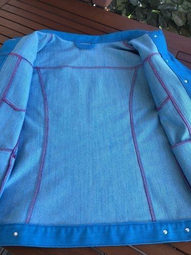 Makerist - Meine Jeansjacke in Türkis - Nähprojekte - 3