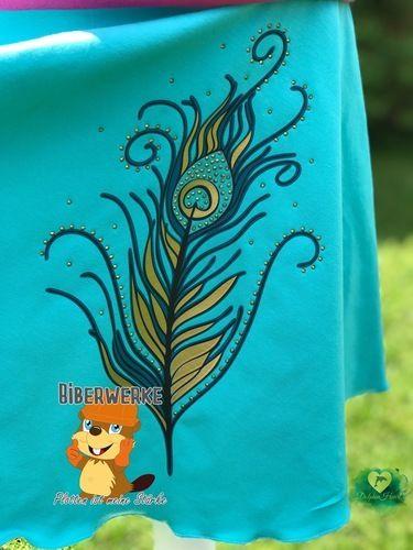 Makerist - Pfauenfeder mit Strass  - Textilgestaltung - 1