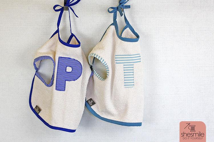 Makerist - Zwei Ärmel-Lätzchen als Geschenk zur Geburt von Zwillingen - Nähprojekte - 2