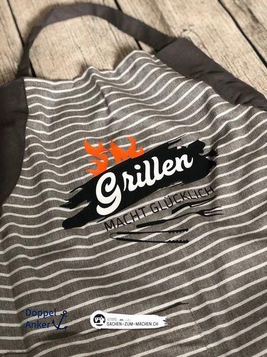 Makerist - Grillen macht glücklich von Alpwind - Textilgestaltung - 1