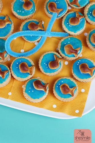 Makerist - Fischli-Doppelkekse zur Taufe meines Patenkinds - Torten, Cake Pops und Cupcakes - 3