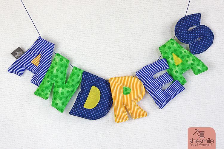 Makerist - Eine Namenskette Letterello zur Taufe meines Patenkinds - Nähprojekte - 1