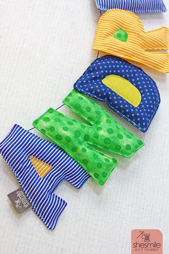 Makerist - Eine Namenskette Letterello zur Taufe meines Patenkinds - Nähprojekte - 2