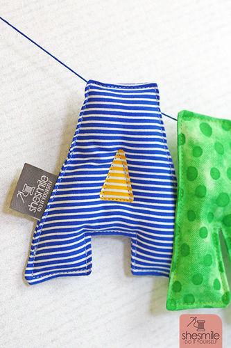 Makerist - Eine Namenskette Letterello zur Taufe meines Patenkinds - Nähprojekte - 3
