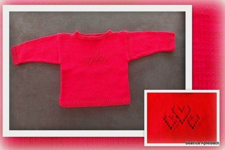 "Makerist - Kleiner Babysweater ""Christine"" - Strickprojekte - 1"