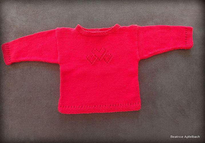 "Makerist - Kleiner Babysweater ""Christine"" - Strickprojekte - 3"