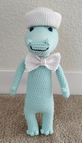 Makerist - Amigurumi – Nile the sailor crocodile - crochet – tutorial - Crochet Showcase - 1